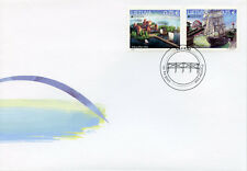 Lithuania 2018 FDC Bridges Europa Bridge 2v Cover II Ships Architecture Stamps