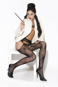 Lace Suspender Pantyhose! Plus & One Size Adult Woman Clothing Stockings