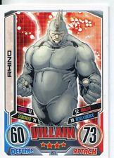 Marvel Hero Attax Series 2 Base Card #157 Rhino