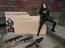 GI JOE ~ 2013 BARONESS ~ SDCC TRANSFORMERS AUTOBOT COBRA ~ with FILE CARD