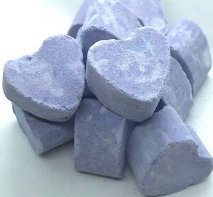 Wild Lavender Mini Heart Bath Fizzes Bomb Organza Bag 6 12 18 Favors Party Bag