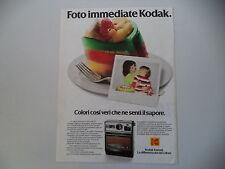 advertising Pubblicità 1979 KODAK INSTANT EK 100