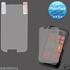 Nokia Lumia 822 Verizon Ultra Clear Screen Protector+Cleaning Cloth Twin Pack