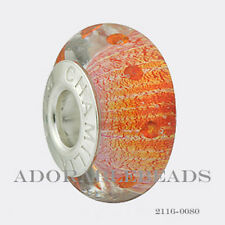 Authentic Chamilia Silver Murano Radiance Sunset Flash CZ Bead 2116-0080