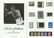 FRANCE SPORT BOXE MARCEL CERDAN + DOCUMENTS TABLEAUX PAINTINGS GEMÄLDE 1991 50€