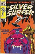 The Silver Surfer Comic Book #6, Marvel Comics 1969 VERY FINE
