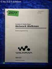 Sony Bedienungsanleitung NW E3  Network Walkman (#2577)
