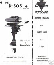 clinton k505, parts list,manual 5.5hp parts in my store