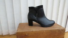 Ladies Alpina Black Leather Ankle Boot Size 4.5