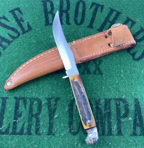 case xx 523-31/4 Rare Stag Fixed Blade Knife 1965-69 Original Sheath Unused Rare