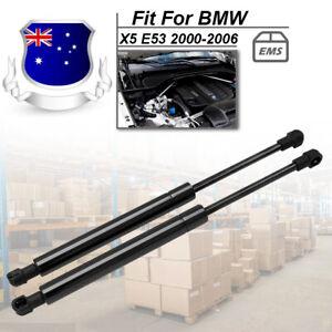 1 New Pair Front Bonnet Gas Shock Struts Lift Support Suit BMW X5 E53 2000-2006