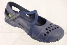 SKECHERS Blue Croslite Material Hole Hook & Loop Strap Shoe Women's Size 7.5 M