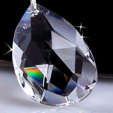 10PCS Clear Water Drop Crystal Chandelier Ornaments Xmas Party Decor Pendants