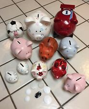 """Piggy Bank 2"""" Rubber Hole Stopper / Plug Replacement White (1) USA Made!"""