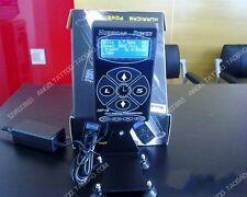 Hurricane Digital LCD Tattoo Power Supply For Dual Gun Clip Pedal Kit Black