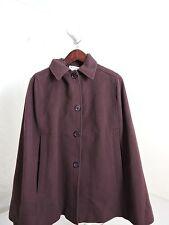 NWT-$298 Helen Berman London Lavender Wool&Cashmere Sleeveless Cape-Sz- Small *