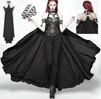 Long Split Suede Skirt Overskirt High Waist Gothic Punk Warrior PunkRave Men