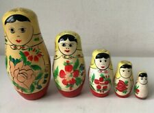 Russian Matryoshka Nesting Doll 5 Pieces wooden multicoloured grumpy