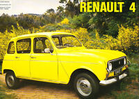1975 Renault 4 and 7 cwt Van Original Car Sales Brochure Catalog - UK