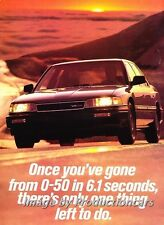 1987 Acura Legend Sedan Original 2-page Advertisement Print Art Ad J758