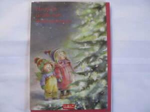 Klappkarte mit roten Umschlag Lisi Martin Kinder am Baum