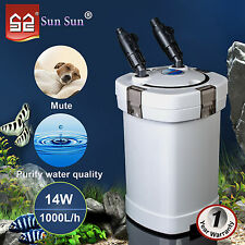14W Aquarium External Filter Canister Fish Tank Water Pump Pond Cotton Oxidation