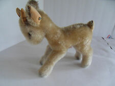 Steiff goat mohair large button stuffed animal  Germany 1657