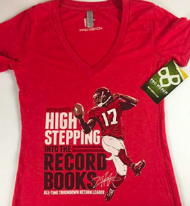 Devin Hester Shirt Womens SZ S/M High Stepping Into The Record Books Falcons NEW