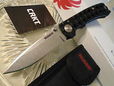 CRKT Ruger Harsey Go-N-Heavy Huge Tactical Folding Knife R1801 8Cr13MoV w Sheath