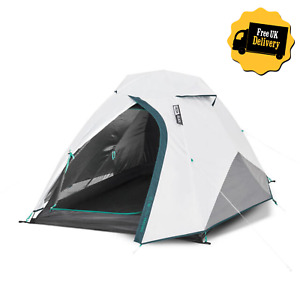 QUECHUA 2 Man Person Fresh & Black Waterproof CAMPING TENT SHELTER FESTIVAL DOME