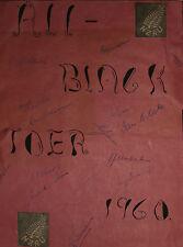 Rugby-All Blacks Tour del Sud Africa 1960 firmato Scrapbook Pagina