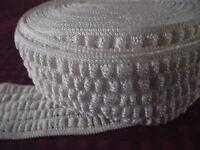 1 m ELASTIQUE plate décorative blanche Gaufrée large 50 mm élastique 5 cm ruba