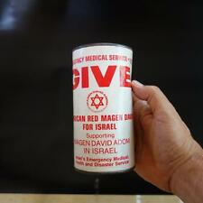 Vtg Magen David Adom מגן דויד �דו� Charity Money Box New York For מד� Israel