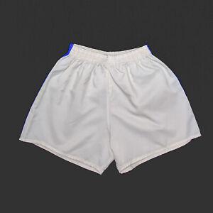 Vintage 80s White Regular Nylon Sports Shorts Boys S W20