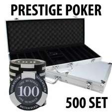 Prestige Poker Chips 500 Chip Set with Alum case
