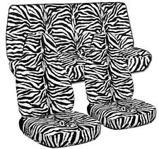 1987-1995 Jeep Wrangler YJ Seat Covers / Zebra White Front & Rear