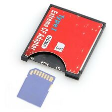 peed SDXC SDHC SD to CF Compact Flash Memory Card Reader Adapter Type I High