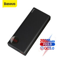 Baseus 20000mAh Power Bank USB Type-C PD Quick Charge Battery for iPhone Samsung