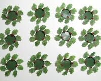 Vtg Plastic Candle COASTER Wreaths Christmas Holly Berries LOT OF 12 Hong Kong