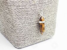 Natural Tiger's Eye Amulet Healing Charm Pendant Chakra Reiki Necklace Gift UK
