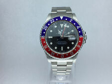 """ROLEX GMT-MASTER II """"PEPSI"""" STAINLESS STEEL MODEL16710B WITH BOX"""