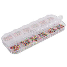 1 Box Shape Multicolor Mix Round Sequins Pretty Nail Art DIY Set Rhinestones#1mm