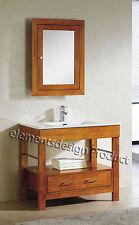 "36""Bathroom Vanity 36-inch Cabinet Ceramic Top Sink Med Cabinet Cg- Cinnamon"