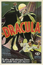 Dracula Monster Movie Poster Giclee Canvas Print 20x30