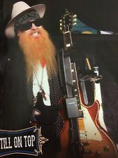 Zz Top, Billy Gibbons, Samson Guitars, Full Page Vintage Promotional Ad
