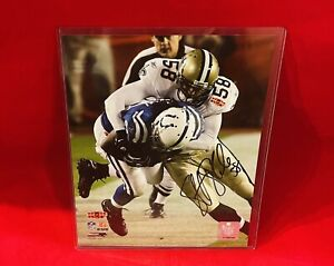 NFL Super Bowl XLIV New Orleans Saints #58 Scott Shanle 8x10 Autograph Photo