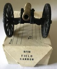 Vintage Cast Iron & Brass Field Cannon ~ Made In Japan w/ box ~ Fort Jackson?