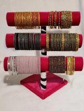 Wholesale Indian Fashion Jewelry Multi-Color Glitter Sparkle Rhinestone Bangles