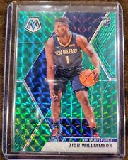 2019-20 Panini Mosaic Zion Williamson Green Prizm Rookie Card RC - Pelicans