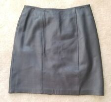 Petite Sophisticate Leather Skirt dark brown Size 4 Womens moto